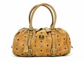 MCM Tasche Visetos Bag cognac Shopper Handtasche Henkeltasche Medium LogoPrint