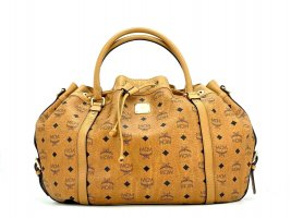 MCM Tasche Visetos Cognac Shopper Bag Handtasche Henkeltasche Drawstring Large