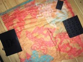 MCM Silk Cloth light orange-turquoise