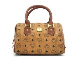 MCM Vintage Handtasche Boston Bag Visetos Cognac Gold Tasche Henkeltasche