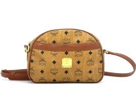 MCM Vintage Handtasche Schultertasche Tasche Visetos Henkeltasche Cognac Gold