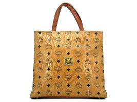 MCM Vintage Handtasche Small Shopper Bag Visetos Cognac Gold Tasche Henkeltasche