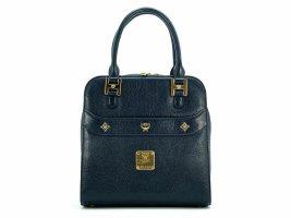 MCM Vintage Henkeltasche Schwarz Gold Bag Tasche Handtasche Leder Small