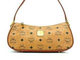 MCM Vintage Schultertasche Handtasche Visetos Tasche Bag Cognac Gold