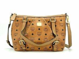 MCM Visetos Bag Tasche Schultertasche Cognac Small Umhängetasche Handtasche
