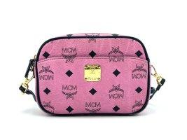 MCM Visetos Crossbody Bag Tasche Pink Schwarz Umhängetasche Small