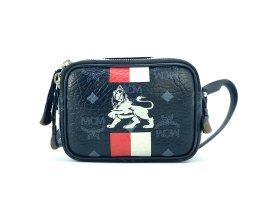 MCM Visetos Crossbody Handtasche Lion Tasche Schwarz Rot Small Bag + Box + Cards