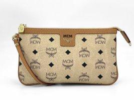 MCM Visetos Etui Pochette Bag Kosmetiktasche Small Elfenbein Gold Tasche Small