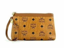 MCM Visetos Etui Pochette mini Bag Kosmetiktasche Small Cognac Gold Tasche