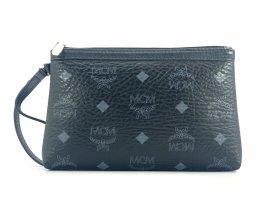 MCM Visetos Etui Pochette mini Bag Kosmetiktasche small Schwarz Silber Tasche