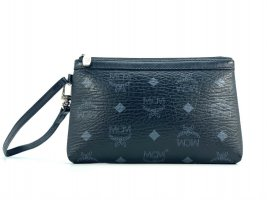 MCM Pochette black-silver-colored