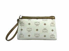 MCM Visetos Etui Pochette mini Bag Kosmetiktasche small Weiss Bronze Tasche