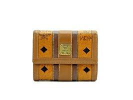 MCM Visetos Geldbörse Cognac Wallet Portemonnaie Kartenetui Etui Small Size