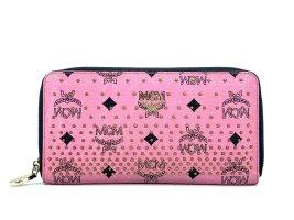 MCM Visetos Geldbörse Wallet Portemonnaie Kartenetui Etui Rosa Pink LogoPrint