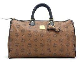 MCM Visetos Handtasche Boston Bag 40 Tasche Henkeltasche Braun Reisetasche