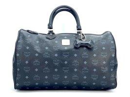 MCM Visetos Handtasche Boston Bag 40 Tasche Henkeltasche Schwarz Reisetasche