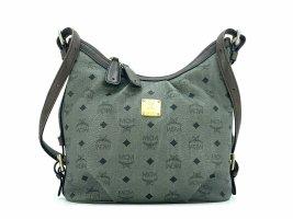 MCM Visetos Hobo Bag Medium Anthrazit Gold Schultertasche Shopper Tasche