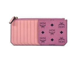 MCM Visetos Kartenetui Geldbörse Wallet Portemonnaie Etui Rosa Pink LogoPrint