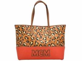 MCM Visetos Leder Shopper Bag Medium Tasche Handtasche Henkeltasche LeoPrint