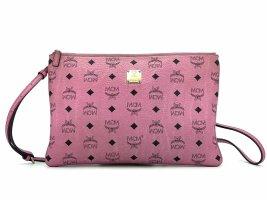 MCM Visetos Medium Crossbody Pouch Soft Pink Pochette Pink Umhängetasche Logo