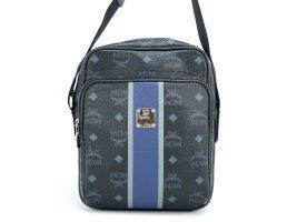 MCM Visetos Messenger Bag Tasche Schultertasche Shopper Crossbody Unisex black