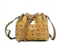 MCM Visetos Schultertasche Bucket Kordelzug Drawstring Bag Tasche Shopper small
