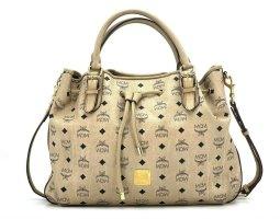 MCM Visetos Schultertasche Large Crossbag Tasche Visetos Bag Drawstring Ivory