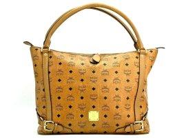 MCM Visetos Schultertasche Shopper Bag Cognac Tasche Henkeltasche Large