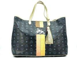 MCM Visetos Shopper Bag Lion X-Large Big Beach Bag Strandtasche + Anhänger