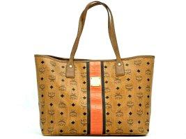 MCM Visetos Shopper Bag Tasche Medium Schultertasche Stripe Henkeltasche