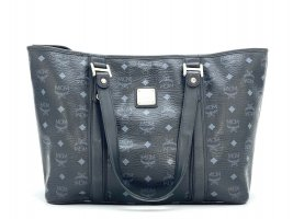 MCM Shopper black-silver-colored