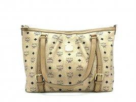 MCM Visetos Shopper Tasche Schultertasche Elfenbein Medium Henkeltasche Bag