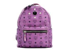 MCM Visetos Stark Rucksack Backpack Small Lila Purple Visetos Bag Tasche