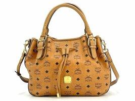 MCM Visetos Umhängetasche Medium Crossbag Tasche Cognac Bag Drawstring Shopper