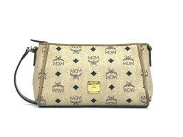 MCM Visteos Handtasche Tasche Bag Elfenbein Gold Visetos Schultertasche Small