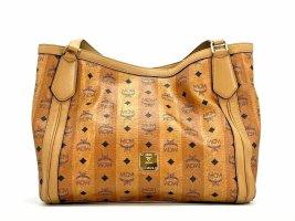 MCM Visteos Schultertasche Shopper Bag Cognac Henkeltasche Large Tasche Braun