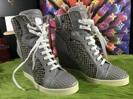MCM Sneaker alta multicolore Pelle