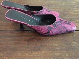 Mega Pantoletten Vintage Schlange Pink schwarz 39