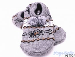 Mega Socks | Damen Winter Socken Hüttensocken Norweger Strick-Hausschuhe mit ABS Gr. 36-41