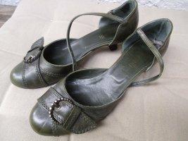 minelli Chaussure décontractée kaki cuir