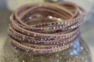 Mehrreihiges Armband rosa Steine NEU