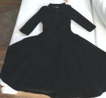 Hearts & Roses Longsleeve Dress black velvet