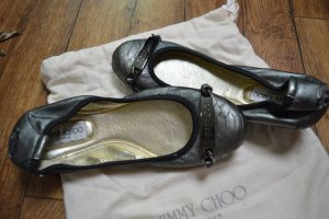Jimmy Choo Foldable Ballet Flats silver-colored-gold-colored