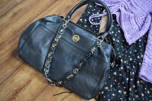 Meine tolle Leder-Tasche schwarz gold von Baldinini