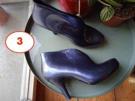 Melissa Botas de cuña azul oscuro-azul tejido mezclado