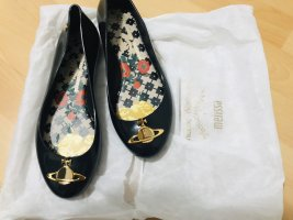 Vivienne Westwood Patent Leather Ballerinas gold-colored-black