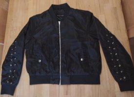 Melrose Jacke schwarz silber glänzend 40
