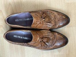Melvin & hamilton Zapatos formales sin cordones coñac