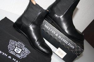 Melvin & hamilton Chelsea Boots black leather