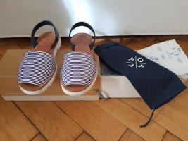 Popa Espadrille sandalen wit-blauw